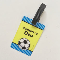 Bag Tags Football - Personalised, Pack of 2