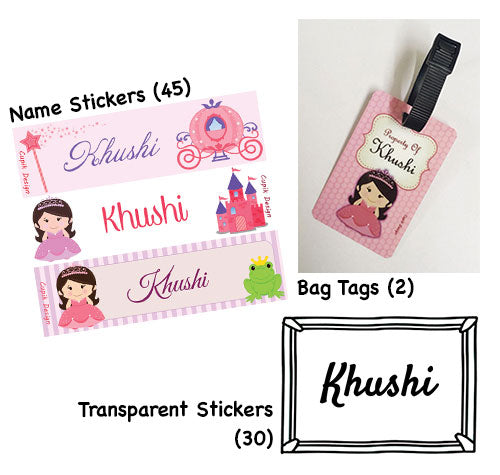 BTS MINI- Princess  | Back To School Hamper | Personalised Stationery