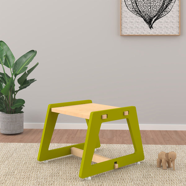 Kids Stool - Green Charcoal Chikku