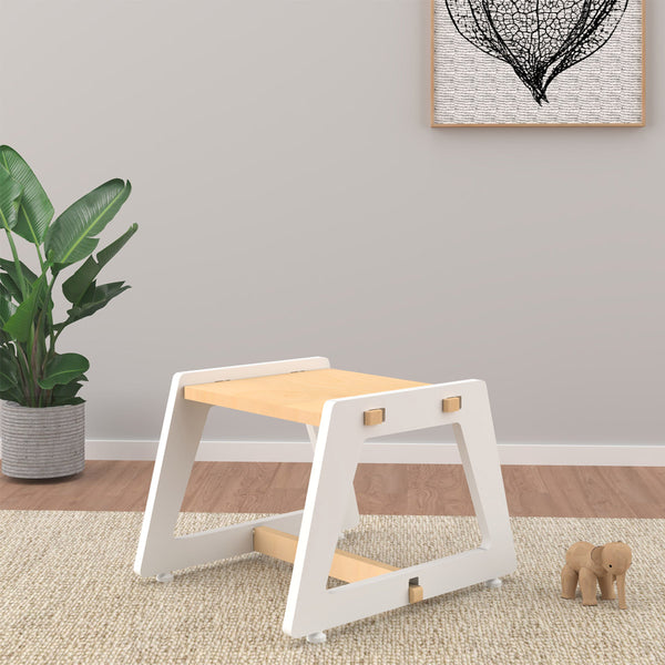 Kids Stool - White Charcoal Chikku