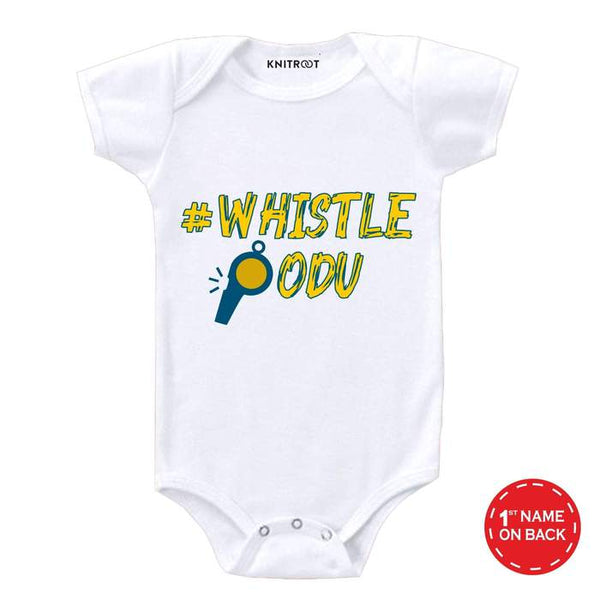 Chennai Super Kings Baby Outfit - Personalised Baby Onesie
