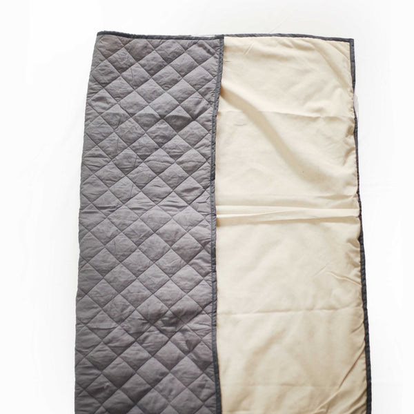 CuddlyCoo Quilted Cotton Play Mat - Grey | Play Mat