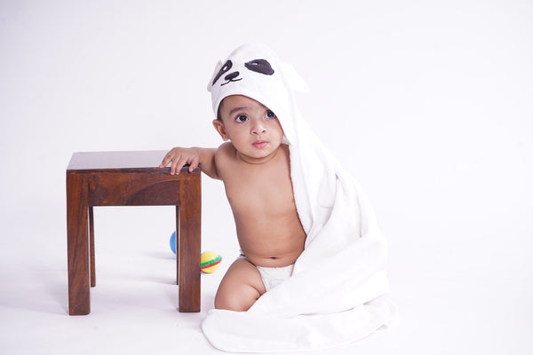 Baby Hooded Towel - Panda themumsshop