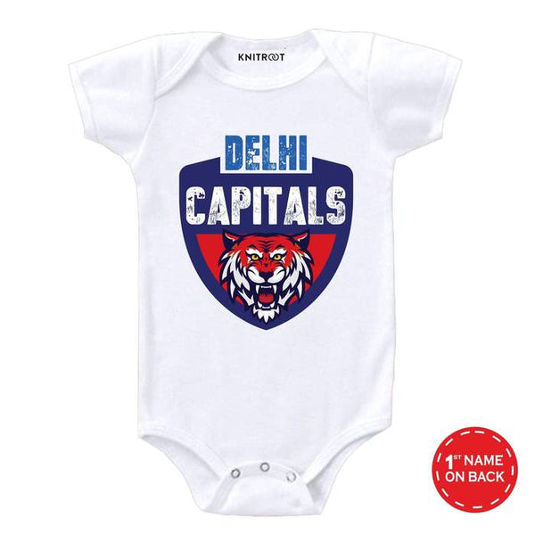 Delhi Capitals baby wear - Personalised Baby Onesie