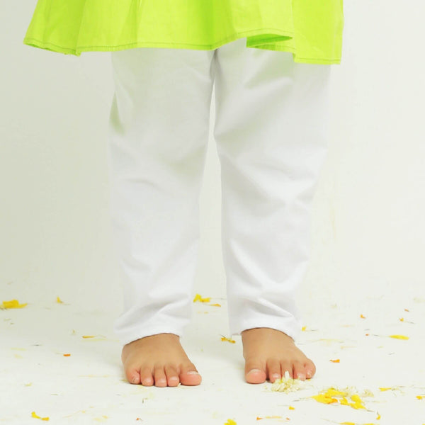 Green Diwali Personalised Kurta Pajama | Girls Indian Wear