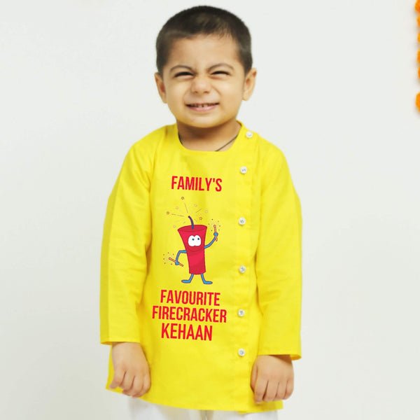 Personalised Yellow Kurta Pajama | Boys Indian Wear