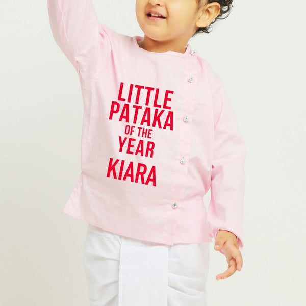 Personalised pink Dhoti Kurta | Boys Indian Wear