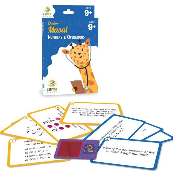 Doctor Masai : Flash Cards with Magic Glass - Game & Toys - Age 9+ Years
