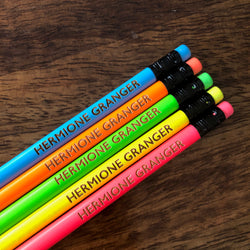Personalised Engraved Pencils (Neon)