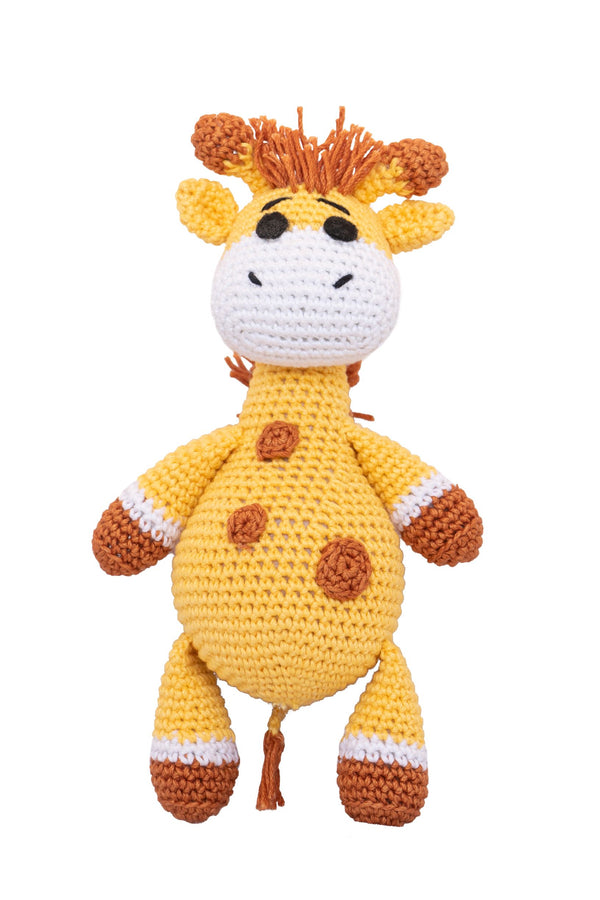 Amigurumi Soft Toy- Giraffe(ocher & Brown) | Crochet Toys