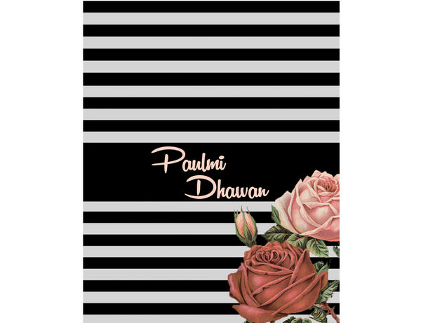 Personalised Folder - B And W Floral