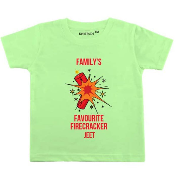 Family's Favourite Firecracker - Personalised Tshirt