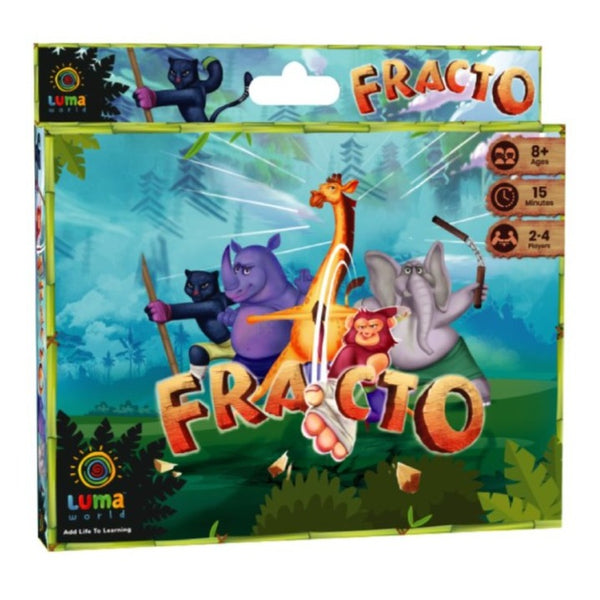 Fracto: A 3-in-1 Educational Card Game - Game & Toys - Age 8+ Years