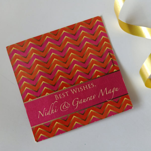 Personalised Gift Tags - Mehndi Party (Set of 20)