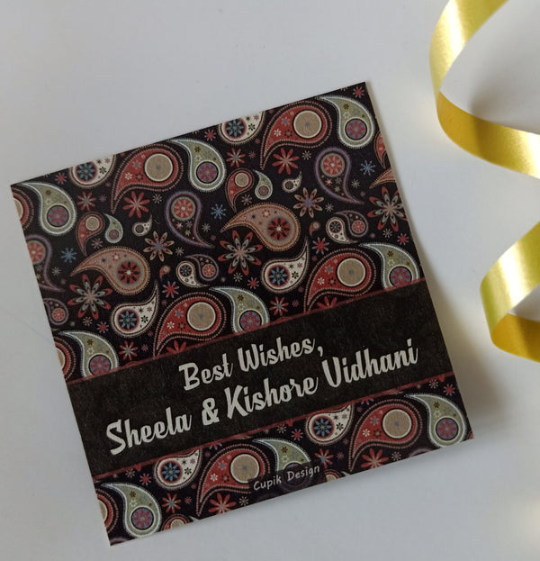 Personalised Gift Tags - Paisley (Set of 20)