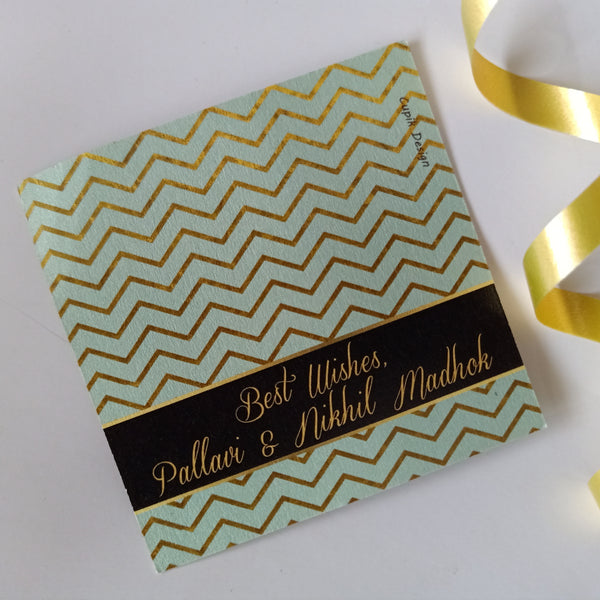 Personalised Gift Tags - Gold Chevron (Set of 20)