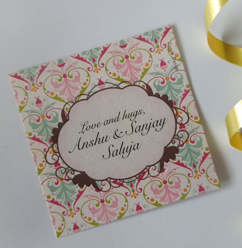 Personalised Gift Tags - Pastel Damask