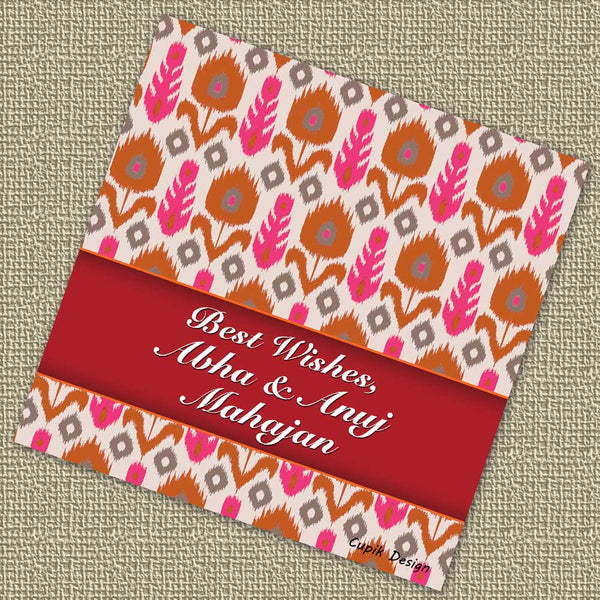 Personalised Gift Tags - Ikat (Set of 20)