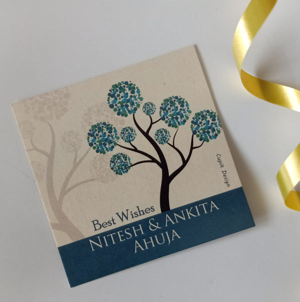 Personalised Gift Tags - Teal Tree (Set of 20)
