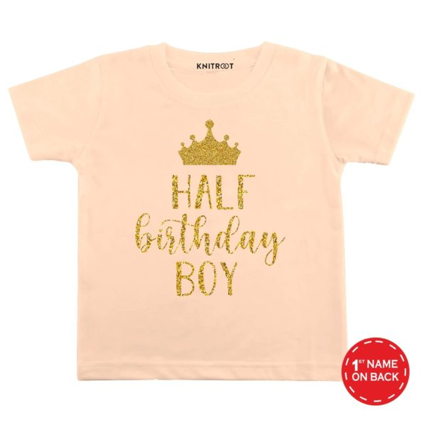 Half Birthday Boy Baby Outfit | Personalised Tshirt