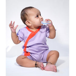 Half Romper - Lavender Cherry | Baby Clothes