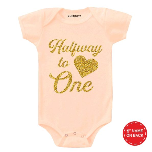 Halfway to One Baby Outfit | Personalised Baby Onesie