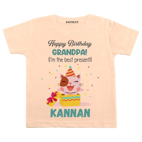 Happy Birthday Grandpa (I'm the Best Present) | Personalised Tshirt