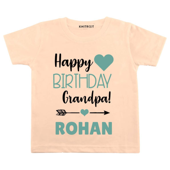 Happy Birthday Grandpa! Baby Wear | Personalised Tshirt