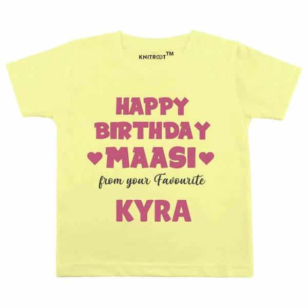 Happy Birthday Maasi From Your Favourite Baby Wear - Personalised Tshirt