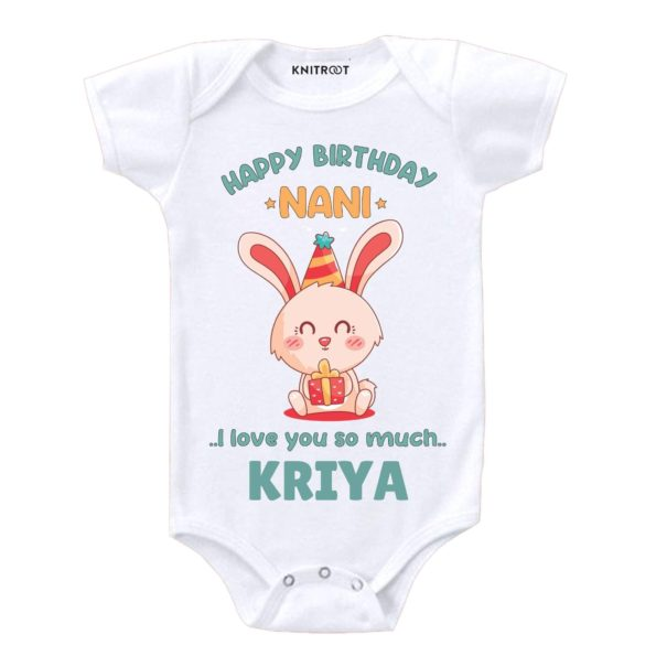 Happy Birthday Nani I Love You So Much Baby Wear - Personalised Baby Onesie