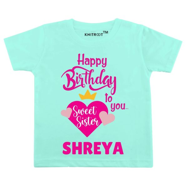 Happy Birthday to You Sweet Sister Baby Wear - Personalised Tshirt