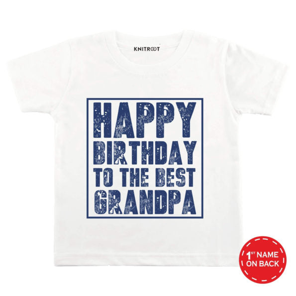 Happy Birthday to the Best Grandpa Baby Wear - Personalised Tshirt