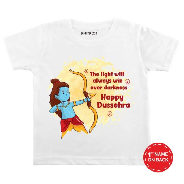 Happy Dussehra Light Theme Baby Wear | Personalised Tshirt