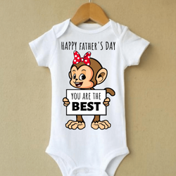Knitroot Father's day Infant Wear 0-3 Months White