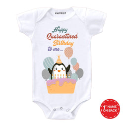 Quarantine Version -Happy Birthday to Me | Personalised Baby Onesie
