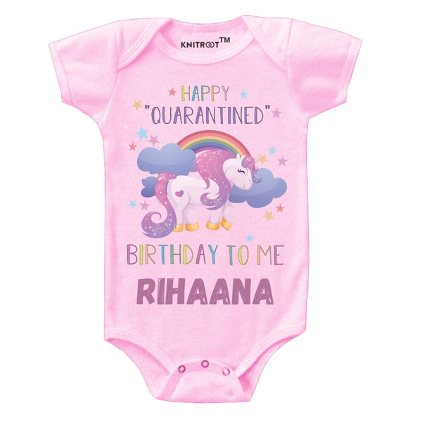 Quarantine Version -Happy Birthday to Me 2 | Personalised Baby Onesie