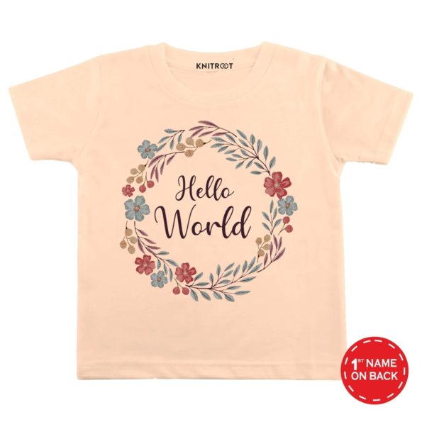 Hello World Baby Wear-1 - Personalised Tshirt