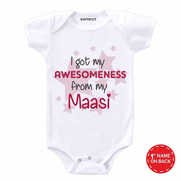 I Got My Awesomeness From My Maasi Baby Wear - Personalised Baby Onesie