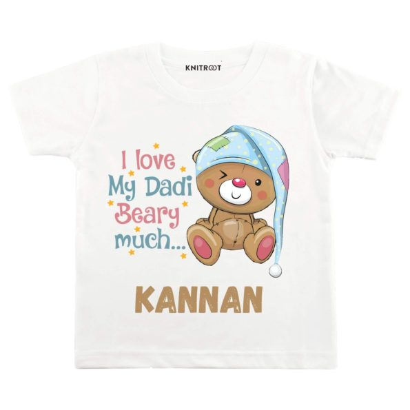 I Love My Dadi Beary Much… Baby Wear | Personalised Tshirt