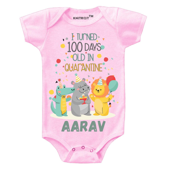 Quarantine Version - I Turned 100 Days Old | Personalised Baby Onesie