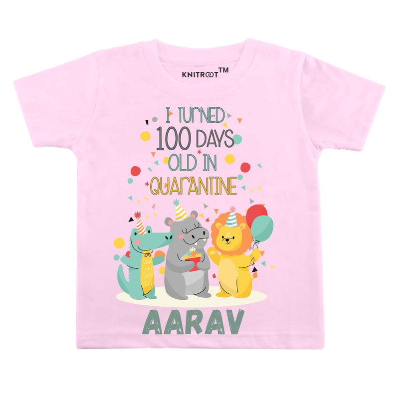 I Turned 100 Days Old | Personalised Tshirt
