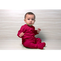 Snap Footie - Raspberry | Baby Clothes