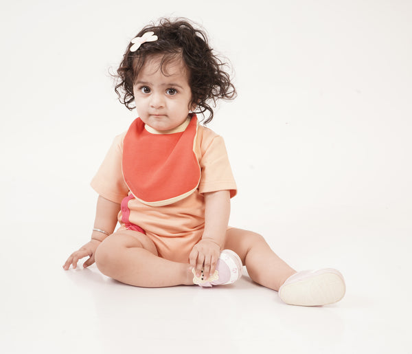 Half Romper - Peach Raspberry themumsshop