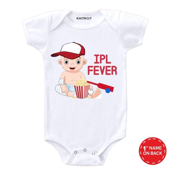 IPL FEVER Stated Outfit Personalised Baby Onesie