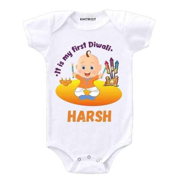 It Is My First Diwali Theme Baby Wear Personalised Baby Onesie