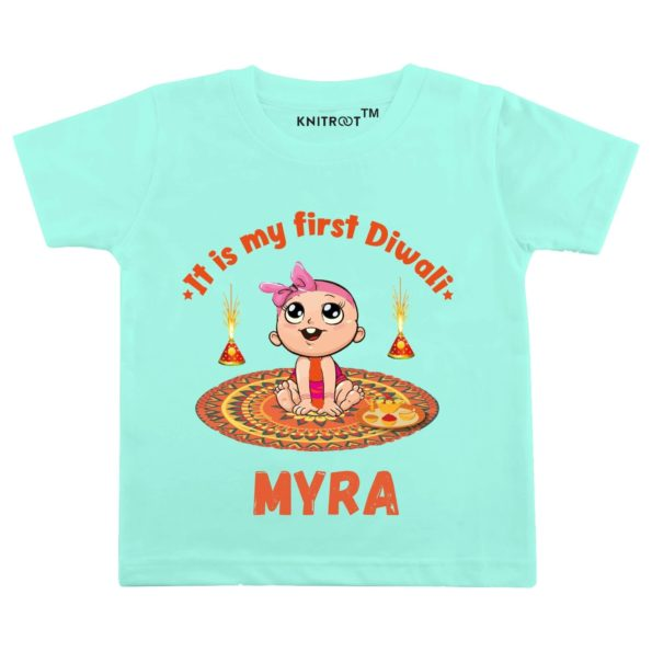 It Is My First Diwali Baby Wear  Personalised Tshirt