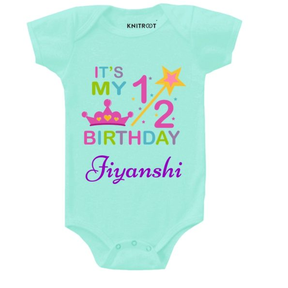 It's My Half Birthday 2 Baby Clothes | Personalised Baby Onesie