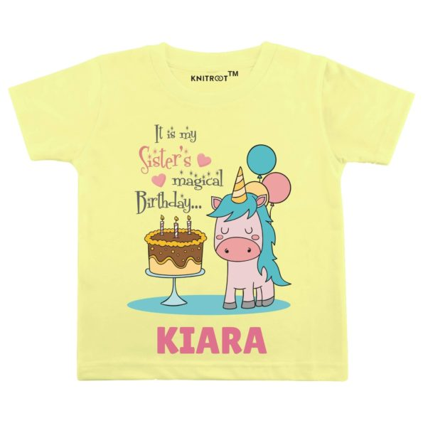 It's My Sister's Magical Birthday… Baby Wear  Personalised Tshirt