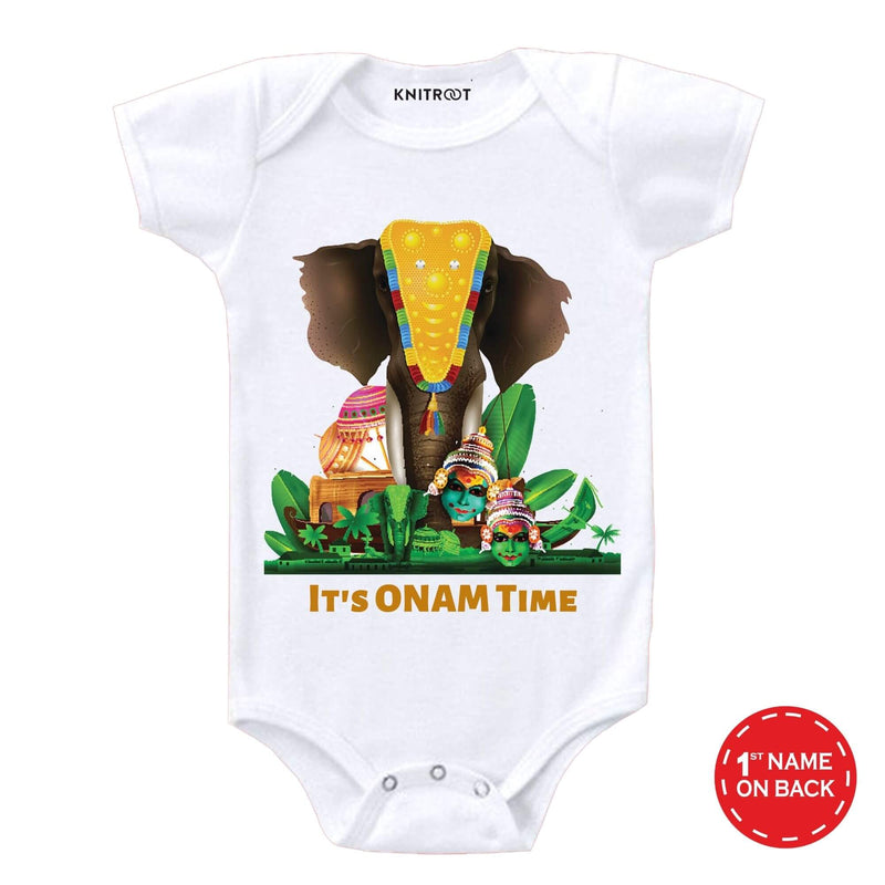 It's Onam Time Baby Wear | Personalised Baby Onesie