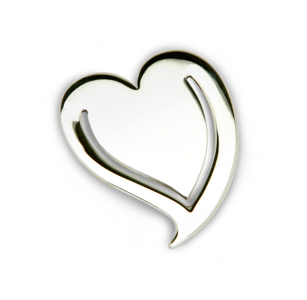 Sterling Silver Heart Bookmark